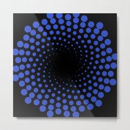 spiral in blue Metal Print