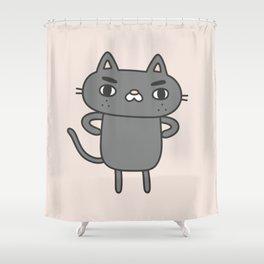 Cranky Cat Shower Curtain