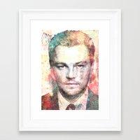 leonardo dicaprio Framed Art Prints featuring Leonardo DiCaprio by Nechifor Ionut
