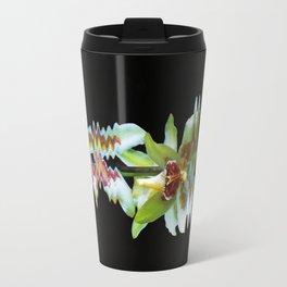 Green flowered Cymbidium Travel Mug