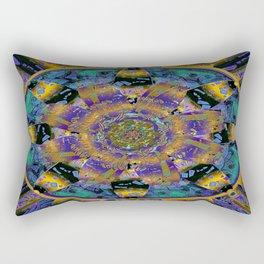 Purple Gold Dream Catcher Mandala Rectangular Pillow