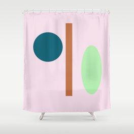 Imbalance face Shower Curtain