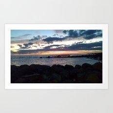 jetty nights Art Print