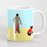vespa Mugs featuring VESPA by Joe Pansa