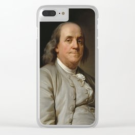 Benjamin Franklin Oil Painting Clear iPhone Case