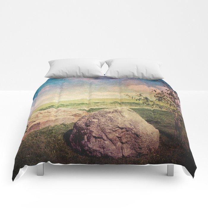 Vintage Landscape 01 Comforters