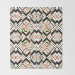 Art deco geometric pattern Throw Blanket