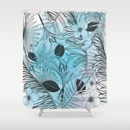 Modern Jungle Shower Curtain