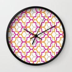 Moroccan Trellis Overlaps Wall Clock
