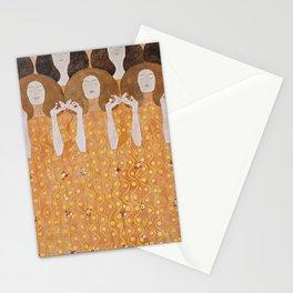 Beethoven Frieze by Gustav Klimt Stationery Cards