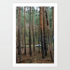 Forest & Car Art Print
