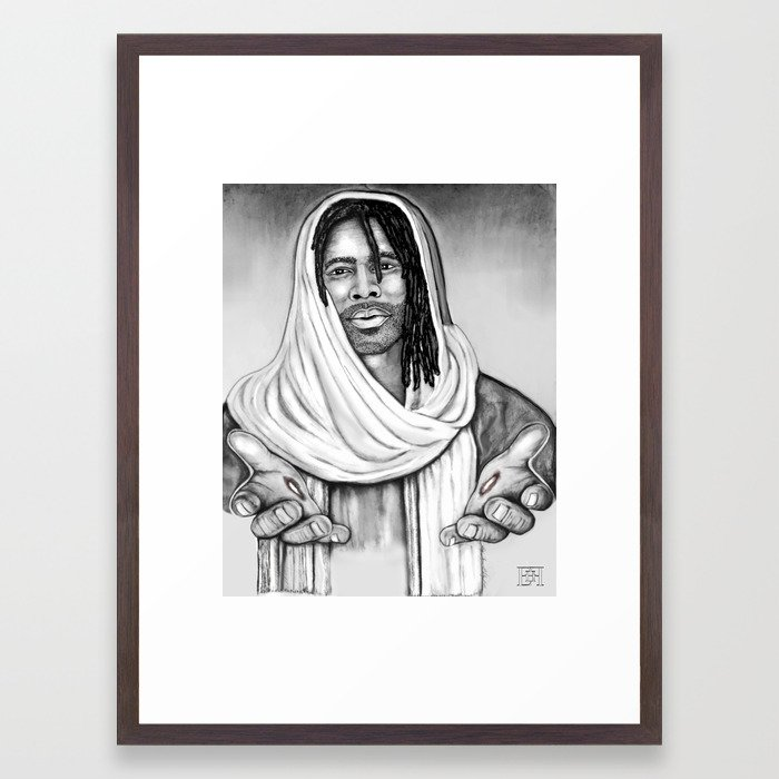 Jesus Framed Art Print by ehfcreation | Society6