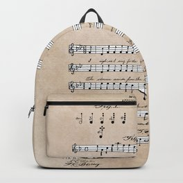 patent art Beswick Musical notation 1903 Backpack