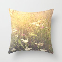 Boho Summer Sunshine Throw Pillow