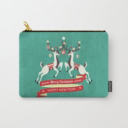 Christmas Deers with baubles Carry-All Pouch