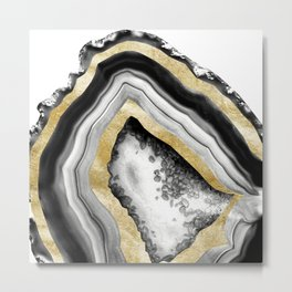 Agate Gold Foil Glam #1 #gem #decor #art #society6 Metal Print
