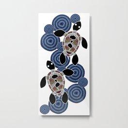Aboriginal Art - Sea Turtles 2 Metal Print