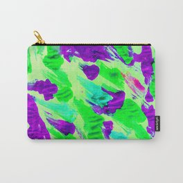 Foil Monoprint Green Carry-All Pouch