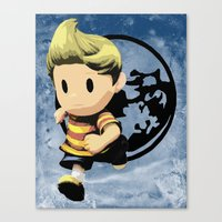 lucas david Canvas Prints featuring Lucas by ScoDeluxe