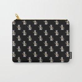 Ukulele Cat Black Pattern Carry-All Pouch