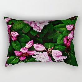 Spring Pink Rhododendron Rectangular Pillow