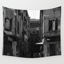 Calle Marcello b&w Wall Tapestry