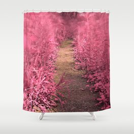 Windy Goose Creek Trail - Tickle Me Pink Shower Curtain