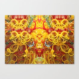 Oriental Style Swirls and Curls Canvas Print