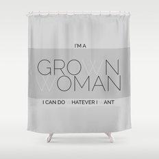 Grown Woman Shower Curtain