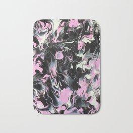 Fluid Acrylic (Black, white and pink) Bath Mat