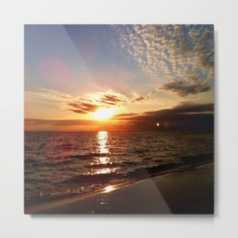 Florida Emerald Coast Sunset III Metal Print