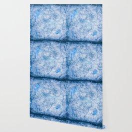 Blue Shimmer Map Design Wallpaper