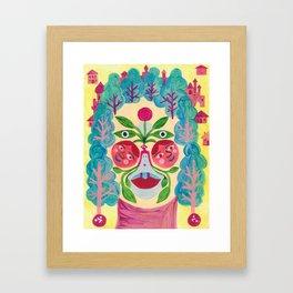 Garden Face Framed Art Print
