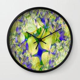 Green Violets Seamless Fractal - IA Wall Clock