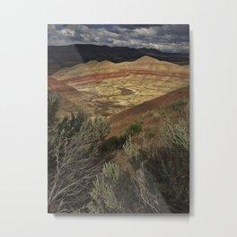 Stormy Painted Hills, Oregon Metal Print