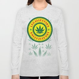 100% Smokin' Cannabis - Legalization - 100% Smokin' Cannabis Long Sleeve T-shirt