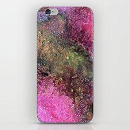 "Abstract Original Painting ""Magenta Ocean"", Contemporary Artist Abstract Artwork, Mixed Media iPhone Skin"