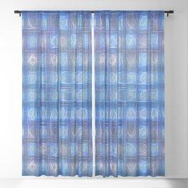 Ocean Sparkles Sheer Curtain