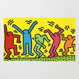 Dancing (Keith Haring) Rug