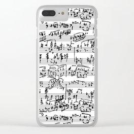 Handwritten Sheet Music Clear iPhone Case