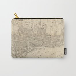 Vintage Map of Montreal (1859) Carry-All Pouch