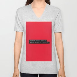 Words Have Power: Read Banned Books Unisex V-Neck