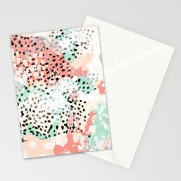 Breah - abstract painting pastel colors nursery baby gender neutral hipster Stationery Cards