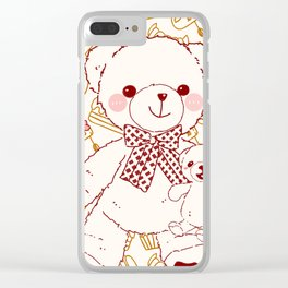 The Adventures of Bear and Baby Bear-Pastry Clear iPhone Case