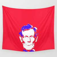 lincoln Wall Tapestries featuring Lincoln by Mylittleradical
