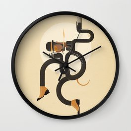 A Snake In The Grass Wall Clock