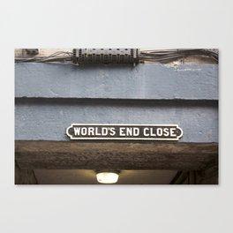 World's End Close 2 Canvas Print