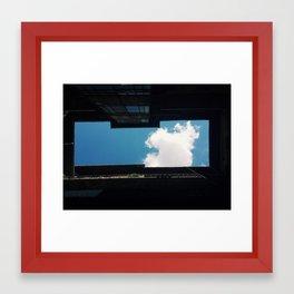 Courtyard Sky Framed Art Print