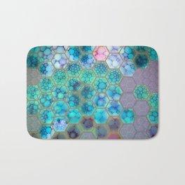 Onion cell hexagons Bath Mat