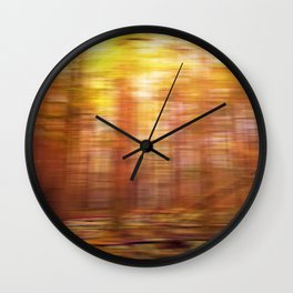 October Forest, Abstract Photography Wall Clock